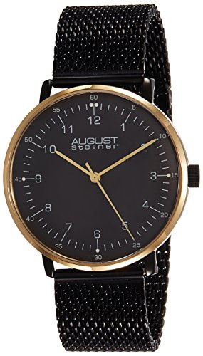 51goaaA6ZiL - August Steiner Mens AS8091BKG watch