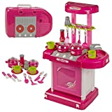 #8: Toykart Luxury Battery Operated Super Kitchen Set with Light, Sound and an Attechi Carry Case