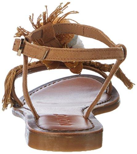 Inuovo Damen 7327 T-Spangen Sandalen Braun (Coconut)