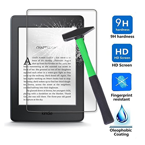 Kepuch Amazon Kindle Paperwhite 1/2 / 3 Schutzfolie Displayschutzfolie - 2 Stück 9H Panzerglas Folie Screen Protector Retail-Verpackung für Amazon Kindle Paperwhite 1/2 / 3