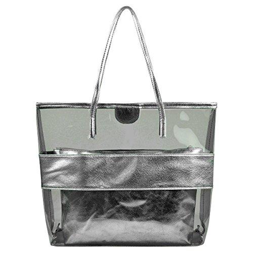 Silver Beach Bag: Amazon.co.uk