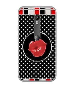 PrintVisa Designer Back Case Cover for Motorola Moto X Style :: Moto X Pure Edition (Black Red Art Illustration Decoration Image Modern Fashion)