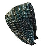 axy® HR31 Haarreif SERIE 31 Stoff Hair band mit Glitzerfäden (Peacock Blue)