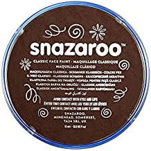 Snazaroo - Pintura facial y corporal, 18 ml, color marrón oscuro