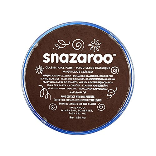 SNAZAROO - PINTURA FACIAL Y CORPORAL  18 ML  COLOR MARRON OSCURO
