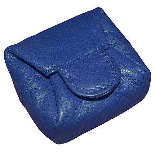 flevado Praktische handliche kleine Mini Münzbörse Schüttelbörse Portemonnaie für Kleingeld / Kinder Geldbeutel (blau)