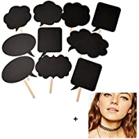 Malloom® 10 piezas prop cabina de fotos DIY burbuja De Diálogo pizarra para boda stand foto de la fiesta