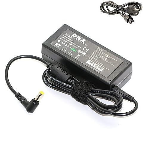 Livraison Gratuite / Chargeur, Transfo, Alimentation, Adaptateur secteur compatible pour Packard Bell TS44-HR-044FR, 19V 3.42A 65W, NOTE-X / DNX