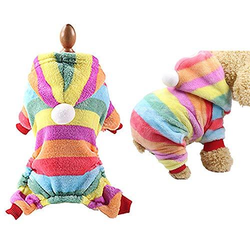 Für Weihnachten Kostüm Haustiere - BulzEU- süßer Hund Weihnachtlicher Kapuzenpullover Winter Warm Rentier-Elch Haustier Kostüm Korallen-Fleece-Mantel für Katzen & Hunde Welpen Weihnachten Kostüm für Teddy, Yorkshire Terrier, Chihuahua