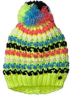 CMP - F.lli Campagnolo, Cappello di maglia Bambina, Giallo (Giallo Fluo), Taglia unica