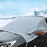 Windschutzscheiben-Sonnenschutz - halbe Abdeckung - Wasserdichter Winter/Schnee-UV-Schutz-Bezug für Auto & SUV - Frontscheiben-Regen/Frost-Sonnenschutz