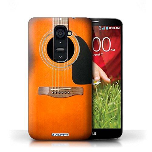 Kobalt® Imprimé Etui / Coque pour LG G2 / Noir Electrique conception / Série Guitare Sunburst Acoustique