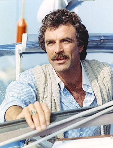 Tom Selleck in White Vest and Blue Polo Portrait Photo Print (60.96 x 76.20 cm)