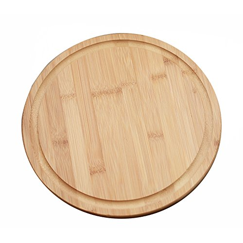 Bamboo Serving Board - Round Bamboo Serving Tray - 12