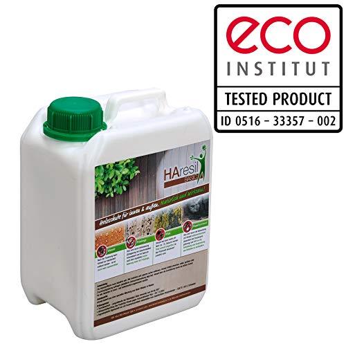 Biologischer Holzschutz HAresil Basic 2,5l Holzschutzlasur schützt vor Pilze, Holzwurm, Holzschädlinge, Holzschutz für Innen und Außen