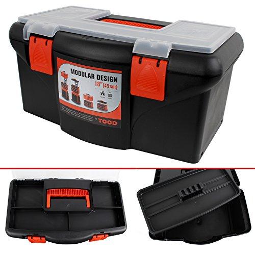 (475) Stabiler Werkzeugkoffer, Werkzeugbox, 22 x 45 x 26cm Werkzeugkiste