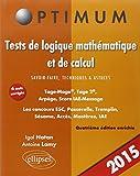 Tests de Logique Mathématique et de Cacul Savoir-Faire Technique & Astuces Tage-MageTage 2 Arpège IAE-Message...