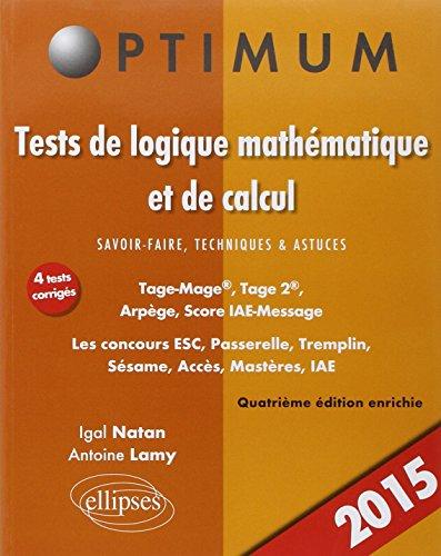 Tests de Logique Mathématique et de Cacul Savoir-...