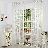 1er Ösen Fenster Gardine Buchstaben Druck Weiss Vorhang BxH 140x200cm
