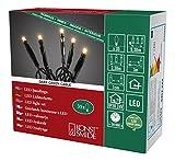 Konstsmide 6352-820 Micro LED Lichterkette/für Innen (IP20) / VDE geprüft / 24V Innentrafo / 35 bernsteinfarbene Dioden/schwarzes Kabel