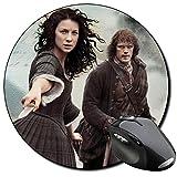Outlander Sam Heughan Caitriona Balfe A Mauspad Round Mousepad PC