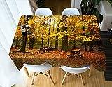 Tischdecke Gedruckt Ahorn Muster Tischabdeckung Vintage Rechteck Abendessen Picknick Küche Flat Table Blatt 140 * 200 cm / 55 * 79 in ZB-69 (Color : 15, Size : 140 * 200CM)