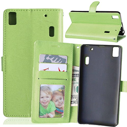 Beiuns para Lenovo K3 Note K50-t5 4G LTE (5,5 pulgadas) Funda de PU piel Carcasa - K122 bastante verde