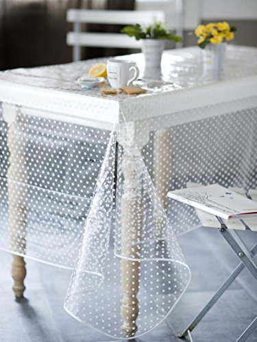 Calitex Agnos mantel PVC transparente mesa redonda 140cm