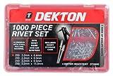 Dekton DT20690 - Juego de remaches (1000 piezas)
