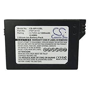 CS-SP112SL Akku 1200mAh Kompatibel mit [Sony] Lite, PSP 2th, PSP-2000, PSP-3000, PSP-3004, Silm Ersetzt PSP-S110