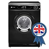 White Knight C44A7B 7kg Reverse-action Freestanding Vented Tumble Dryer Black