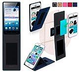 Oppo Neo 5 2015 Hülle in blau - innovative 4 in 1