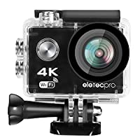 Action Camera, EletecPro 4K WIFI Ultra HD Waterproof Sports Action Camera 16MP 2.4G Remote Control 170 Degree Wide Angle 2.0 Inch LCD 30m Underwater with Accessories Kits and Portable Package