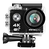 Action-Kamera, EletecPro 4K WIFI Ultra HD wasserdichte Sport-Action-Kamera 12MP 2.4G Fernbedienung...