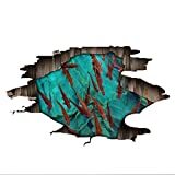 Vitila Mode Aufkleber Wohnkultur Wohnzimmer Schlafzimmer Bad 3D Wandaufkleber Seegras Tintenfisch PVC Abnehmbare Wandbilder Wandtattoos