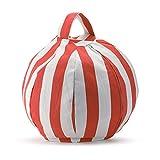 Nuovo SUPERB MULTI-PURPOSE Ripieno per animali di stivaggio Immagazzinaggio Sedia a 8 petali Soluzione di stoccaggio perfetta per coperte / cuscini / coperte / asciugamani / vestiti extra (arancione, 80cm)