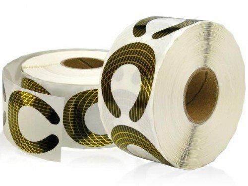 NEW Nail Art 100 pochoirs à modeler or Forme Fer à Cheval modellier Patrons pour extension ongles, design Accessoires Manucure Tips Pack d'essai Probe
