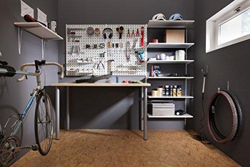Element System Werkzeugwand aus Metall, Heimwerker-Grundset inklusive Schrauben und Dübel, Lochwand - 4
