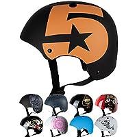 Skullcap® Casco BMX - Casco Skate - Casco Bici, Casco Niños, Negro, Talla S, No.5