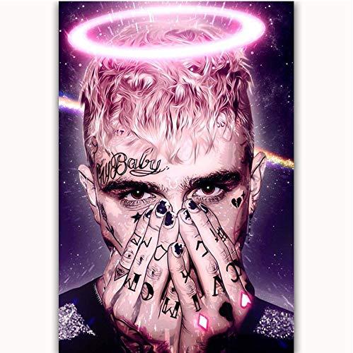 DPFRY Leinwandbilder Wandkunst Bild Junge Rip Lil Peep Angel Rapper Sänger Star Poster Drucken 40X60 cm Ohne Rahmen