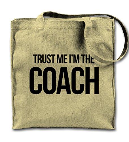 Trust Me I'm The Coach Natürliche Leinwand Tote Tragetasche, Tuch Einkaufen Umhängetasche