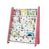 JCNFA Trapezförmiges Bücherregal Bodenständer Kindergarten Bücherregal Kind Cartoon-Spielzeugablage, 23.62 * 11.02 * 30.03in (Farbe : B3)