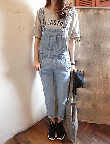 GSP-Pantalon Aux femmes Décontracté Coton / Toile de jean screen color-s