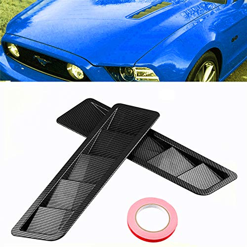 JenNiFer 2Pcs ABS Car Side Vent Air Flow Flow Fender Cover Trim Intake Cooling Panel Stickers für Ford Mustang -