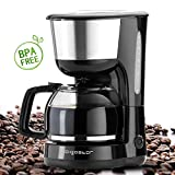 Aigostar Chocolate 30HIK – Máquina de café, 1000W cafetera de filtro color negro, con filtro...