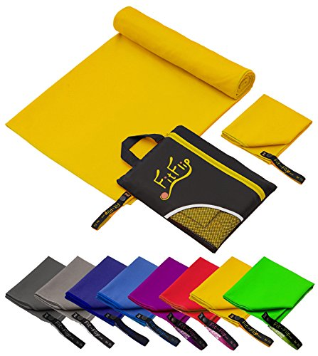 Produktbild Fit-Flip 80x160cm - 1 Stück / Gelb,  reisehandtuch Set reisehandtuch weich reisehandtuch Rucksack reisehandtuch Ultraleicht reisehandtuch Outdoor reisehandtuch Amazon