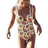 CICIYONER Damen Badeanzüge Bademode Beachwear Solide 1 Stück Hohl Bikini Badeanzug
