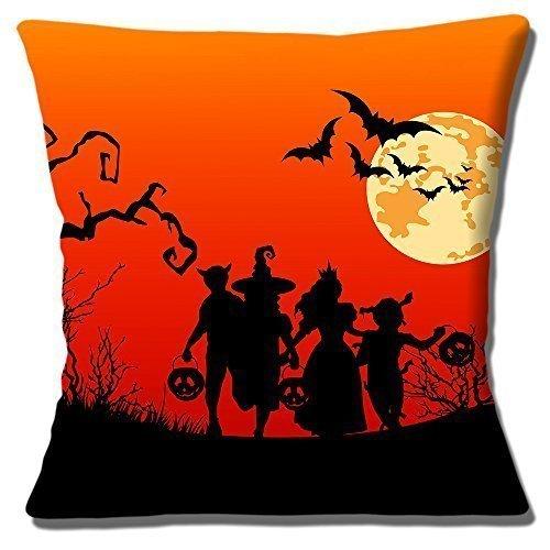 (Halloween Silhouetten Kinder Fledermaus Mond rot schwarz - 16