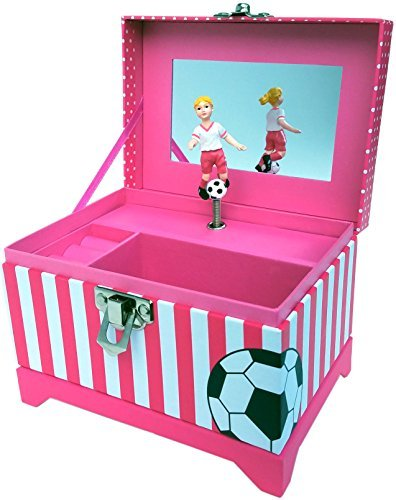 Soccer Player Musical Jewelry Box Yellow - Hair Musical Kostüm