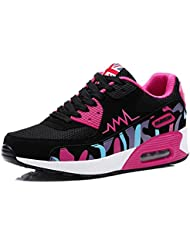 Wealsex Baskets Chaussures Jogging Course Gym Fitness Sport Lacet Sneakers Style Running Multicolore Respirante Femme